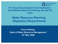 Water Resource Planning: Regulatory Requirements - The UK ...