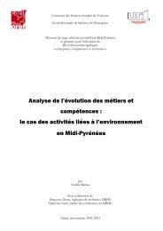Analyse de l'évolution des métiers et compétences - Carif Oref Midi ...
