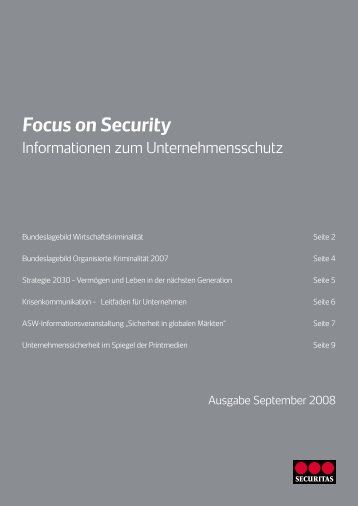 Focus on Security - Securitas