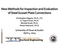 New Methods for Inspection and Evaluation of Steel Gusset Plate ...