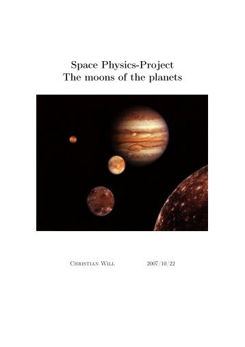 Space Physics-Project The moons of the planets