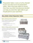 preparation tables - Greenfield World Trade - Page 4