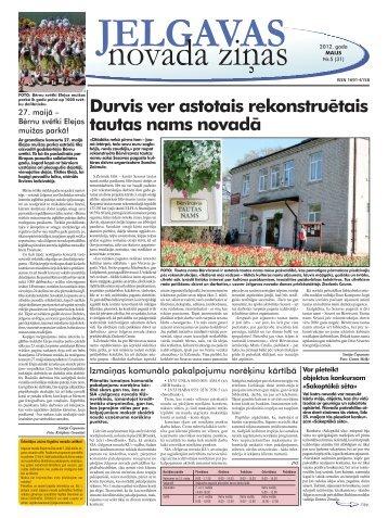 2012. gada maijs Nr.5. - Jelgavas rajona padome