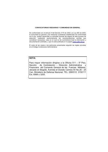 Dirección Administrativa - Comando General de las Fuerzas Militares