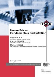 House Prices, Fundamentals and Inflation - Swiss Finance Institute