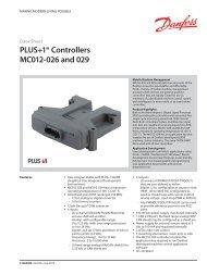 PDF 0.2 MB - Sauer-Danfoss