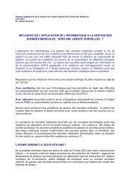 Intégralité du rapport sur l'influence de l'application de l'informatique ...