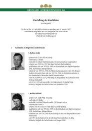 Vorstellung der Kandidaten - Obstland Dürrweitzschen AG