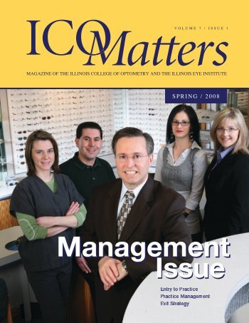 Issue Management Management Issue - Illinois College of Optometry
