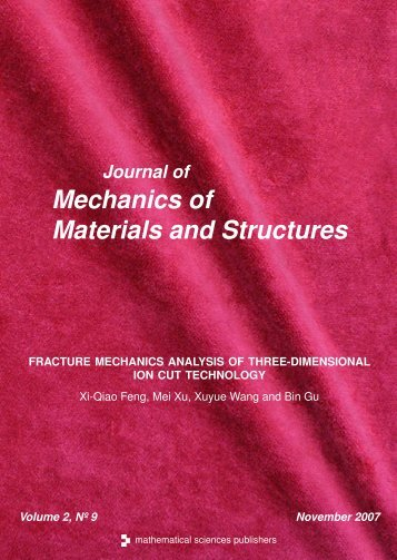 Fracture mechanics analysis of three-dimensional ion cut ... - TAM