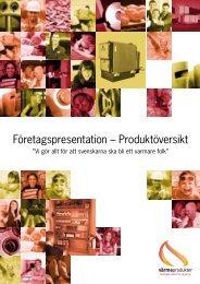 Företagspresentation – Produktöversikt - Värmeprodukter AB