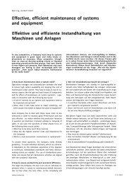 Effektive und effiziente Instandhaltung von Maschinen und