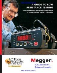 Megger DLRO200 Low Resistance Testing - Actoolsupply.com