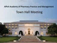 Town Hall slides - American Pharmacists Association