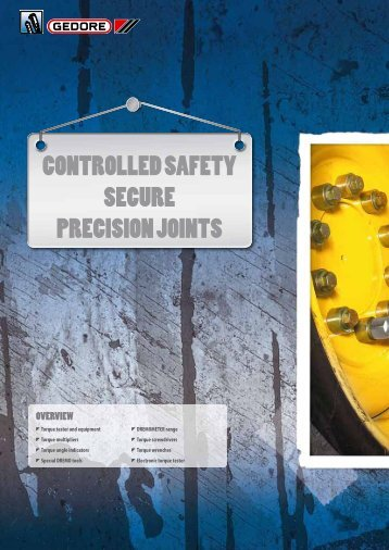 CONTROLLED SAFETY SECURE PRECISION JOINTS - Sicutool