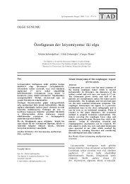 Özofagusun dev leiyomiyomu: iki olgu - Tıp Araştırmaları Dergisi