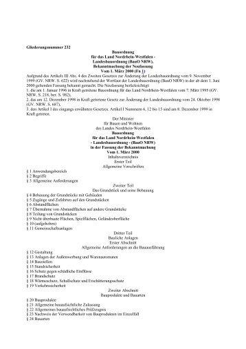 Landesbauordnung (BauO NRW)
