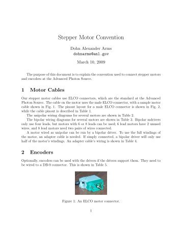Stepper Motor Convention