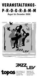 Veranstaltungs p·r·o·g·r·a·m·m - Jazz Lev e. V.