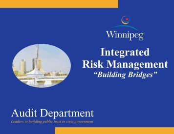 Integrated Risk Management – Building Bridges - City of Winnipeg