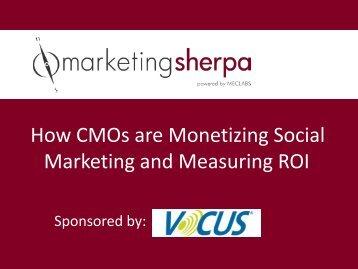 Download the slide presentation - MarketingSherpa