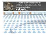 Tools for a critical appraisal of evidences from diagnostic ... - Simel
