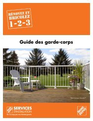 Guide des garde-corps - Home Depot