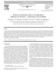 Influence of obstacles – experiments and modelling - Le Centre des ...