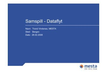 Samspill - Dataflyt - BA-Nettverket