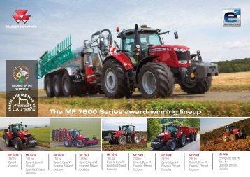 MF 7600 line-up - Massey Ferguson