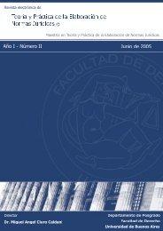 Año I - Número II - Junio 2005 - Facultad de Derecho - Universidad ...