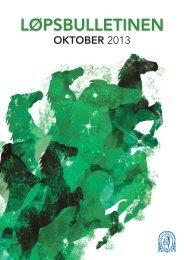 Løpsbulletinen for oktober 2013 - Det Norske Travselskap