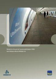 Relatório Anual de Sustentabilidade 2008 - Relações com ...