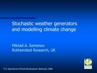Stochastic weather generators and modelling climate change