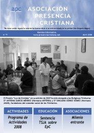 Número 9 - Asociación Presencia Cristiana