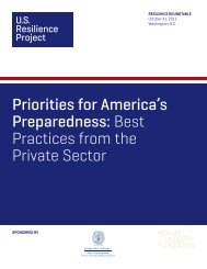 Priorities for America's Preparedness - US Resilience Project