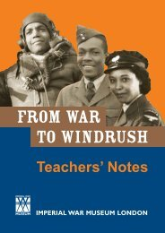 Teachers' Notes - Imperial War Museum