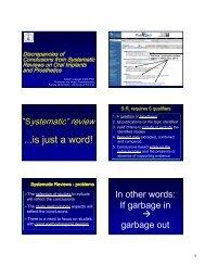 ...is just a word! - Asbjorn Jokstad, Professor, Faculty of Dentistry ...