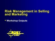 Risk Management in Selling and Marketing - 3DayCar