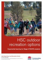 Lake Keepit HSC outdoor recreation options - NSW Sport and ...