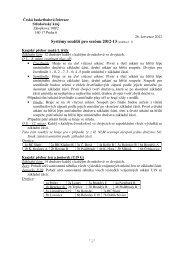 Systémy soutěží pro sezónu 2012-13 (změna č. 1)