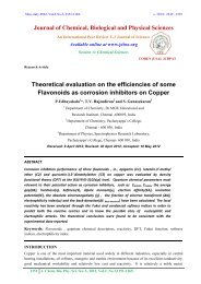 Theoretical evaluation on the efficiencies of some Flavonoids as ...