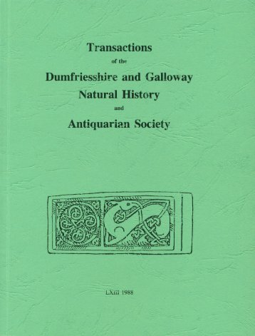 Vol 63 - Dumfriesshire & Galloway Natural History and Antiquarian ...