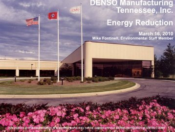 Denso Manufacturing - TN Environmental Conference