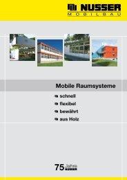 Mobile Raumsysteme - Wilhelm Nusser GmbH