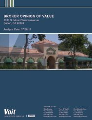 BROKER OPINION OF VALUE - Voit Real Estate Services
