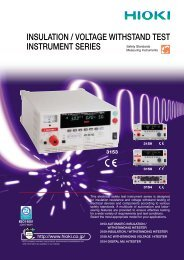 INSULATION/VOLTAGE WITHSTAND TEST INSTRUMENT series