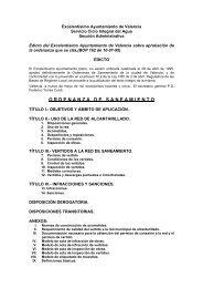 Ordenanza Municipal de Saneamiento