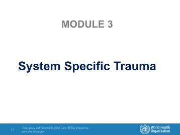 Module 3: System Specific Trauma