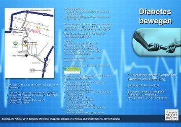 Diabetes bewegen Diabetes bewegen - Hausärzteverband Nordrhein